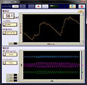 4chデータ収録(オシロスコープ機能)画面