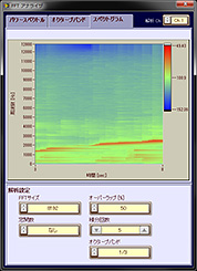 スペクトログラム画面