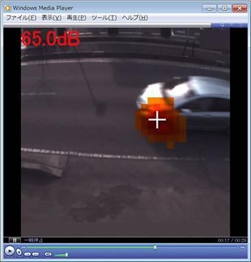 走行中の自動車の音の可視化/見える化