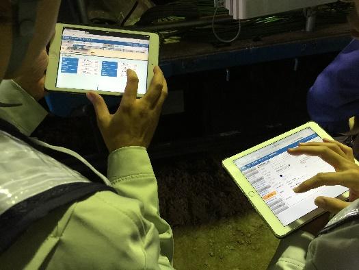 トンネル工事における、あらゆる情報の見える化